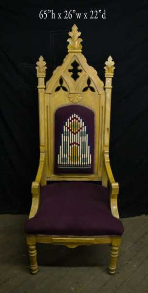 Used-Church-Items-Antique-Chair-3