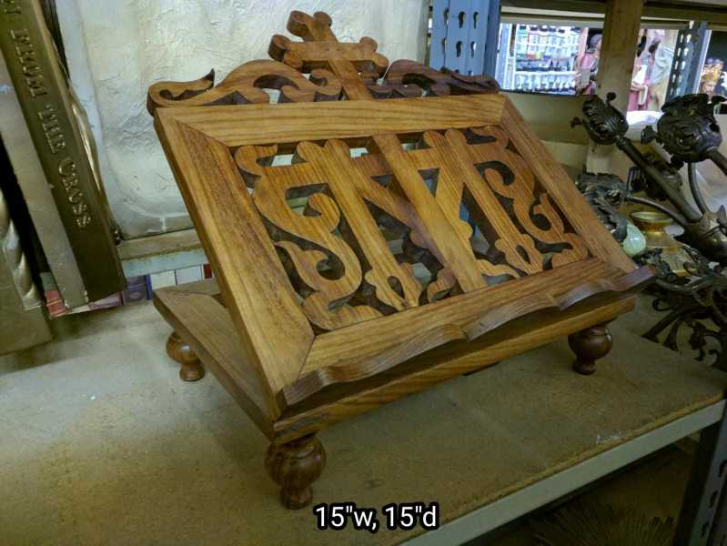 Carved-Wood-Missal-Bible-Stand