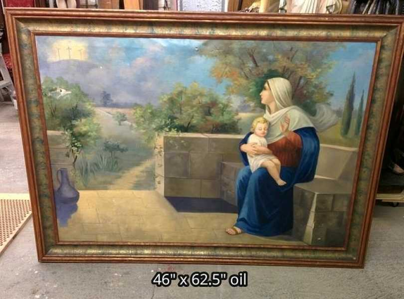 Used-Church-Christian-Oil-Painting-3