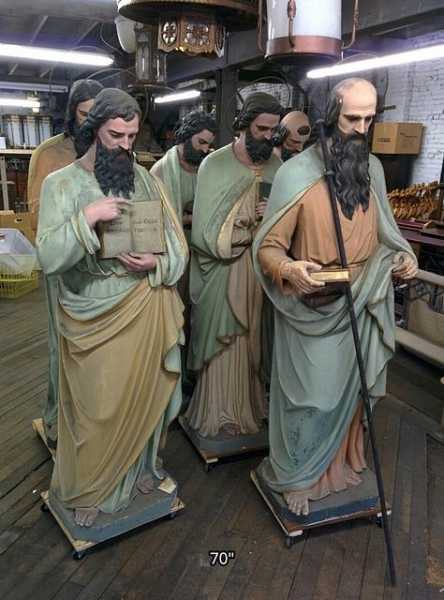Catholic-Church-Mayer-Munich-Antique-Apostles-Saints