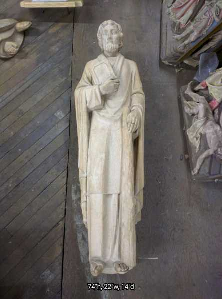 Huge-Saint-Jude--Carved-Wood-Statue