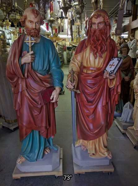 Large-Saint-Peter-and-Paul-Statues